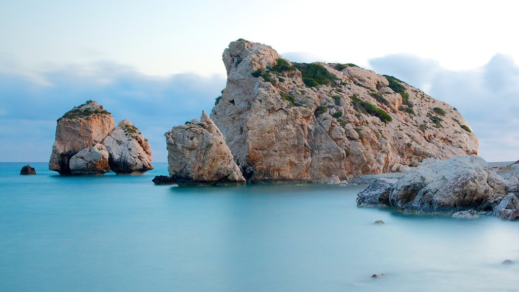 Aphrodite\'s Rock showing rugged coastline