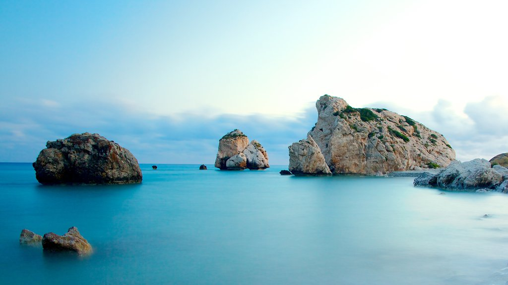 Aphrodite\'s Rock which includes rocky coastline