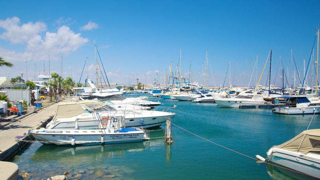 Larnaca Marina which includes a marina