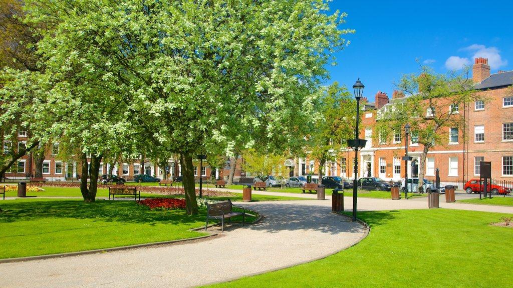 Leeds showing a park