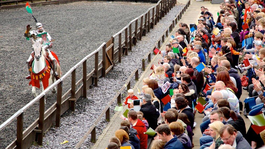 Leeds mostrando equitación y arte escénica y también un gran grupo de personas