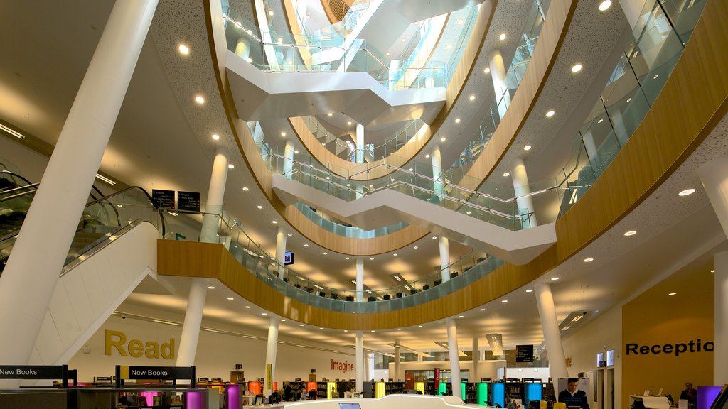 Liverpool Central Library featuring interior views