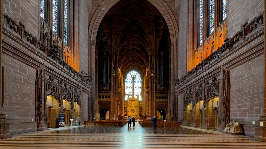 Liverpool Anglican Cathedral which includes a church or cathedral, interior views and heritage architecture