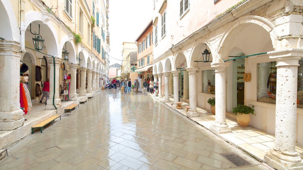 Corfu Island which includes heritage architecture and street scenes