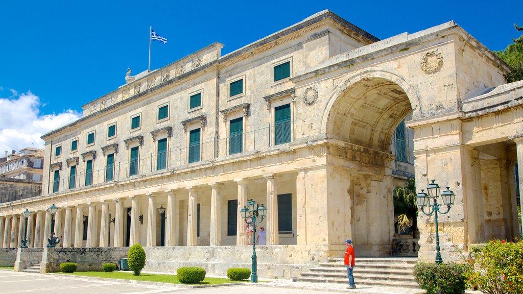 Corfu Island which includes heritage architecture