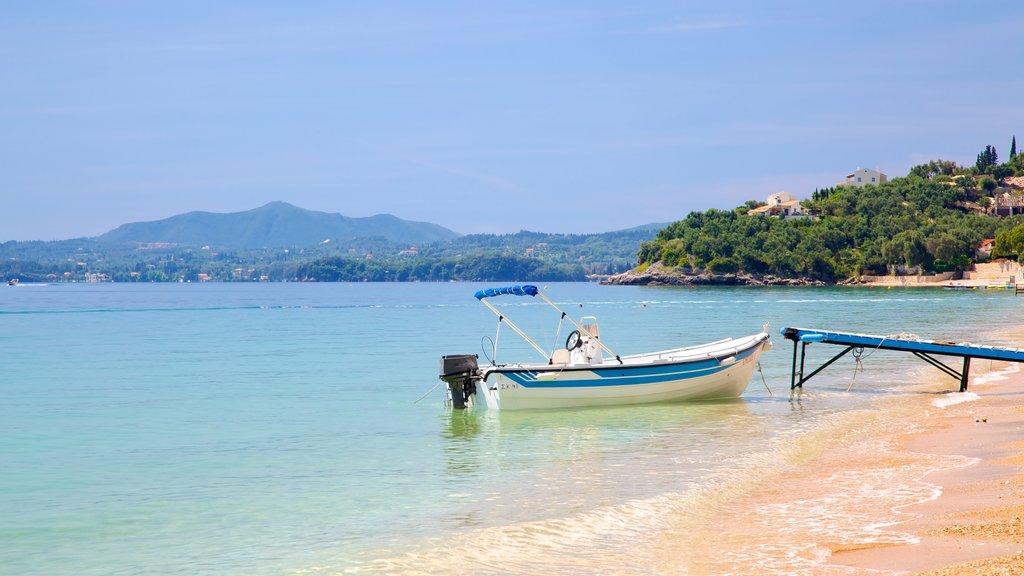 Barbati Beach featuring a beach