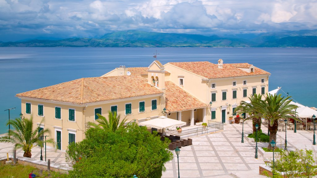 Corfu Town featuring a square or plaza and general coastal views