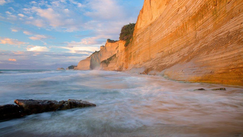 Sunset Beach featuring rugged coastline
