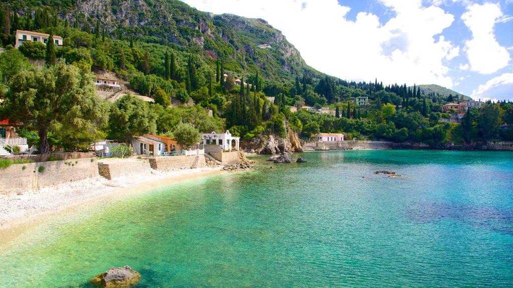 Paleokastritsa Beach featuring general coastal views