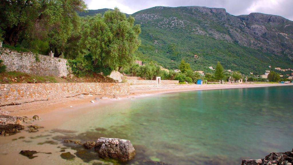 Barbati Beach which includes a beach and landscape views