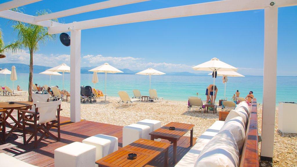 Barbati Beach featuring tropical scenes, a sandy beach and a luxury hotel or resort