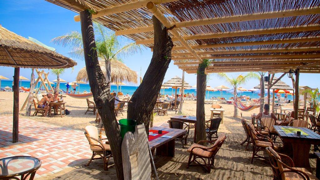 Playa Tsambika ofreciendo una playa