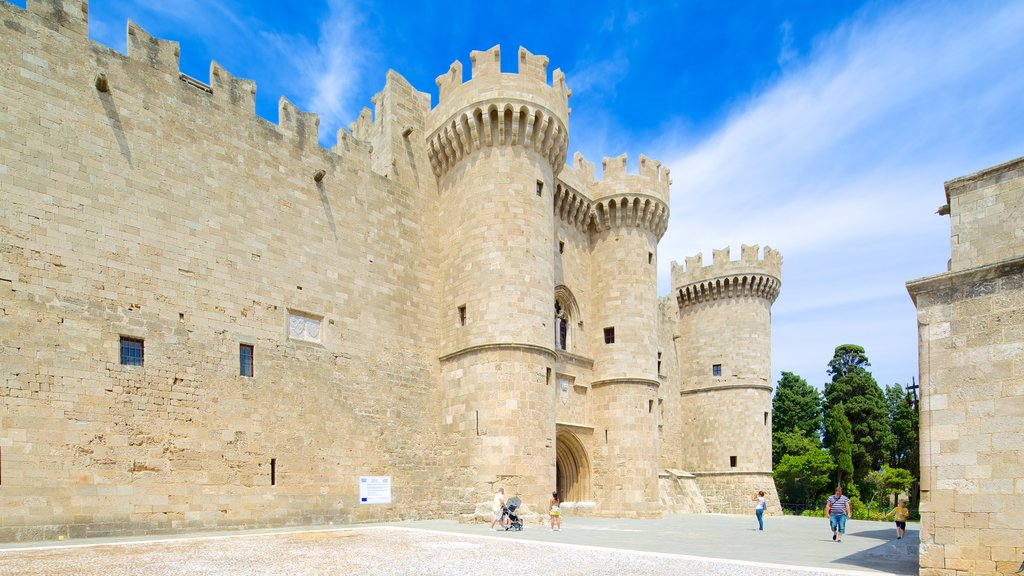 Palace of the Grand Master of the Knights of Rhodes featuring heritage architecture and chateau or palace