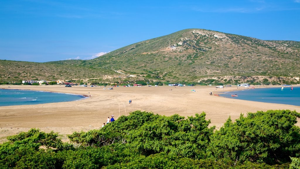 Prassonissi showing a beach