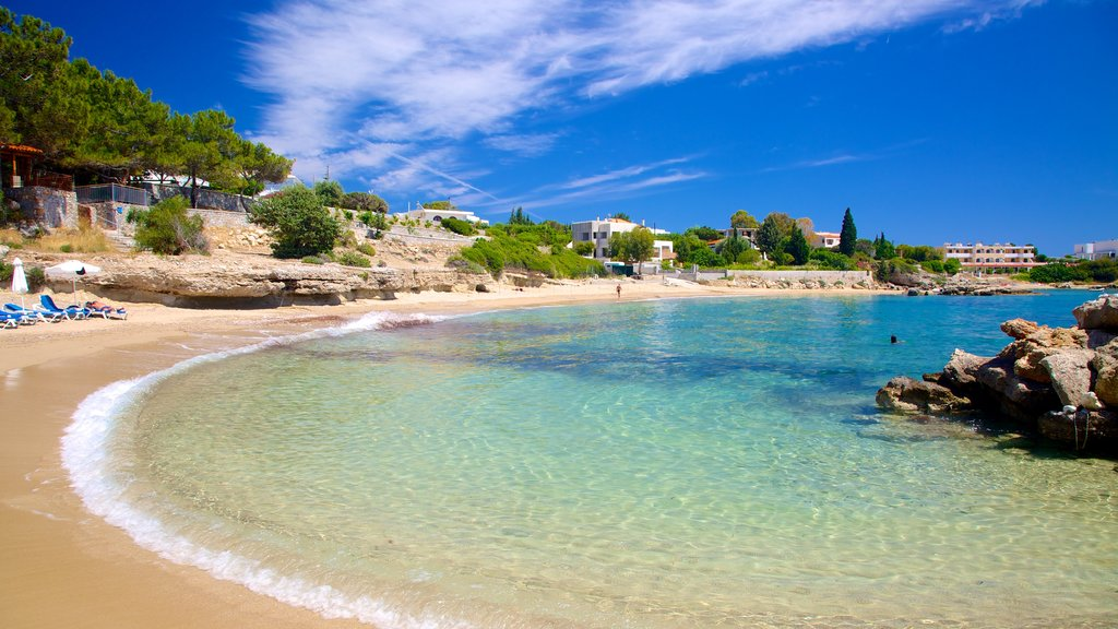 Dodecanese Islands showing a sandy beach, general coastal views and tropical scenes