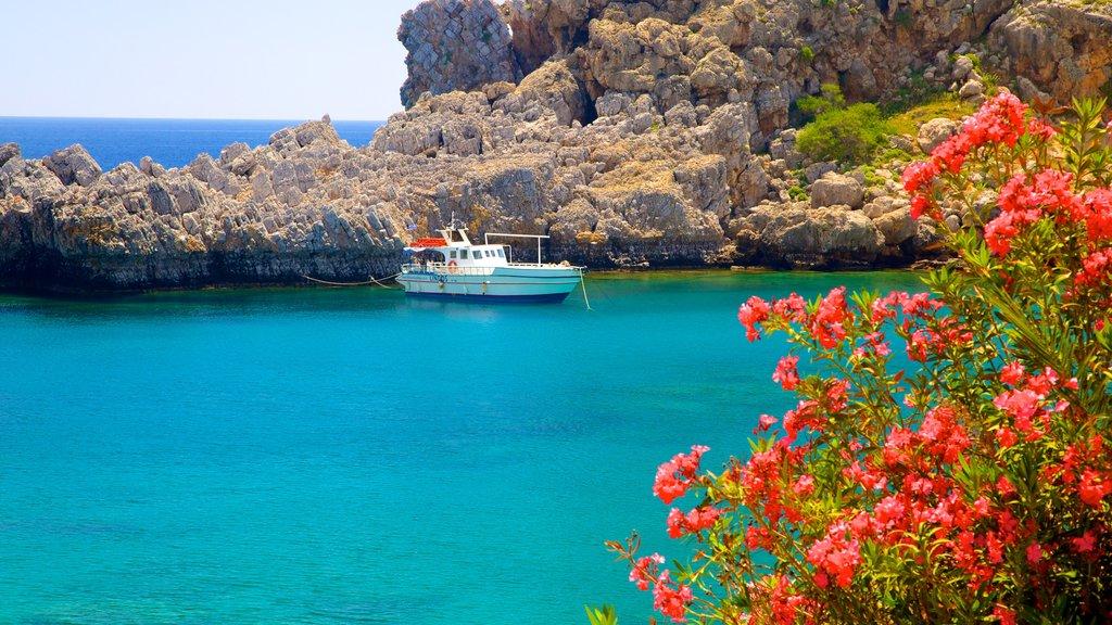 Rhodes Island which includes rocky coastline