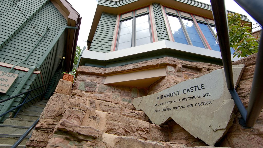 Miramont Castle showing signage