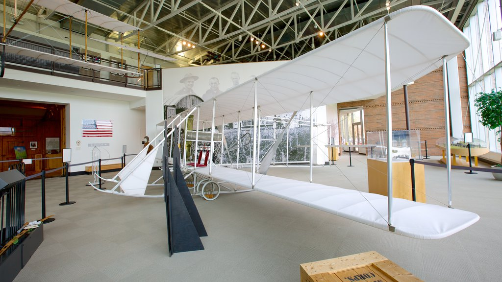College Park Aviation Museum featuring aircraft and interior views