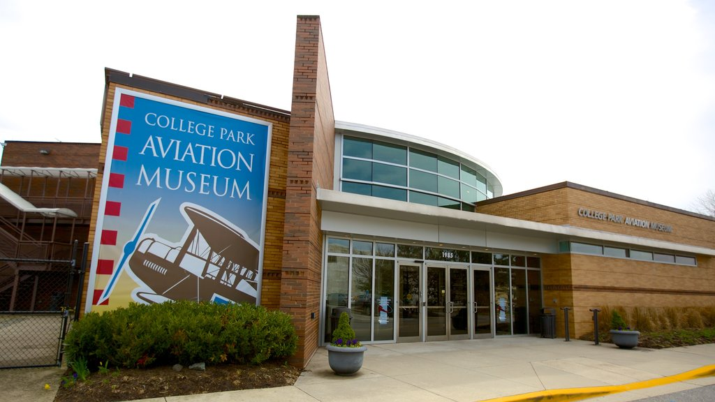 College Park Aviation Museum featuring signage