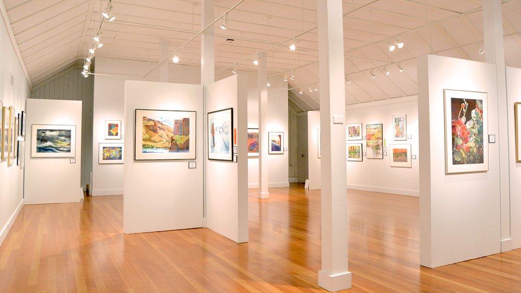 Bush Barn Art Center showing art