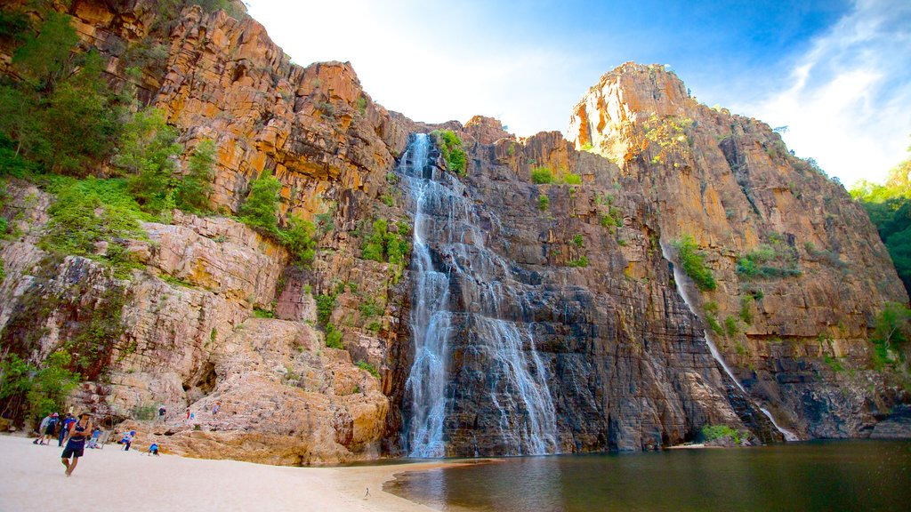 Kakadu National Park which includes a waterfall
