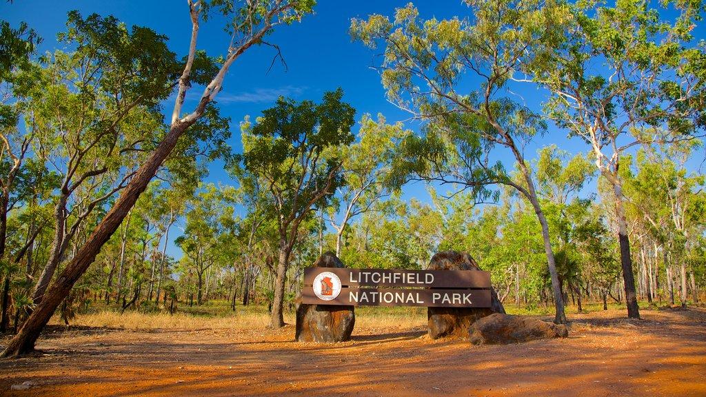 Litchfield National Park showing signage and landscape views