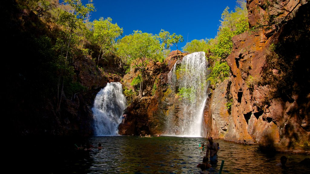 Litchfield National Park which includes landscape views, tranquil scenes and a gorge or canyon
