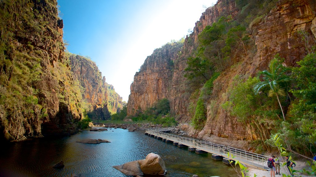 Kakadu National Park which includes a gorge or canyon