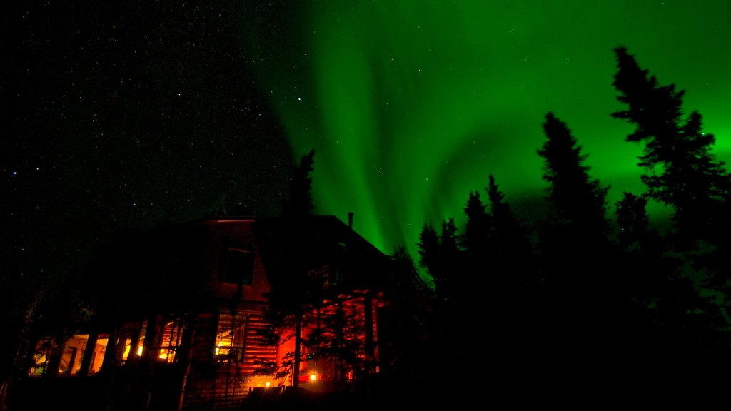 Northwest Territories which includes night scenes and northern lights