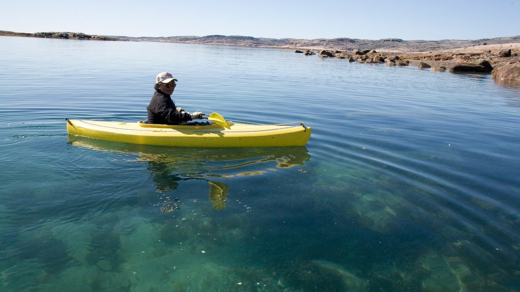 Nunavut which includes kayaking or canoeing as well as an individual male