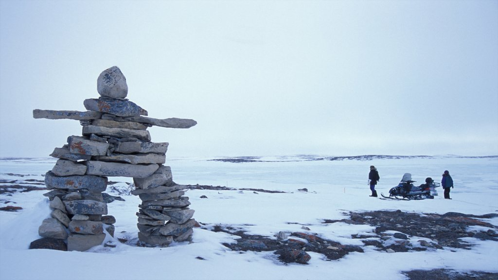 Nunavut showing outdoor art and snow