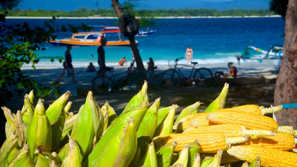 Gili Islands featuring food, landscape views and boating