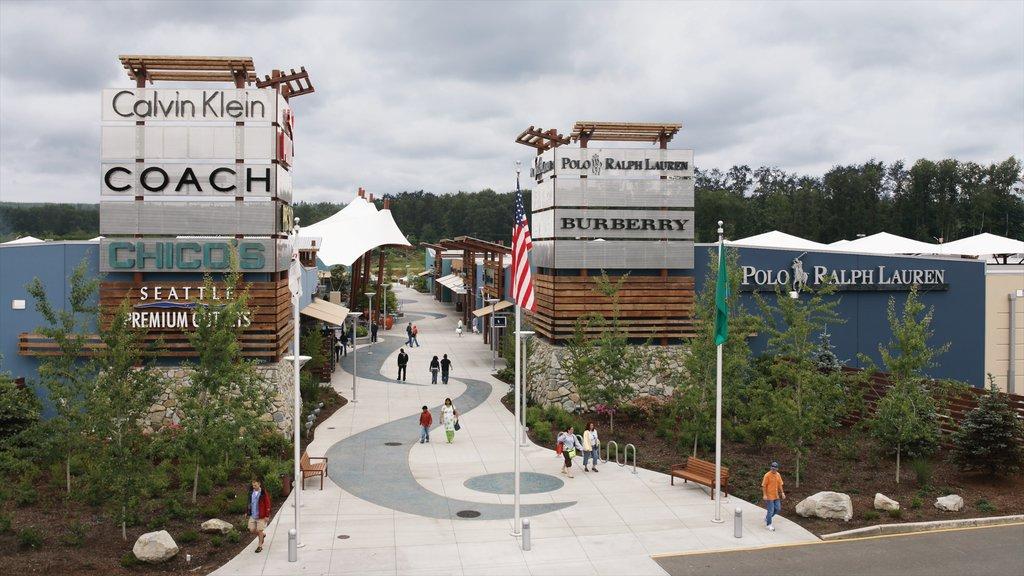 Marysville mostrando escenas urbanas, señalización y compras