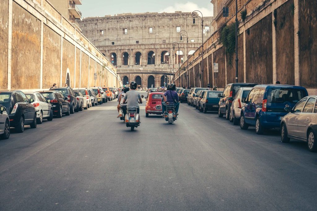 Vespa tour by the Colosseum