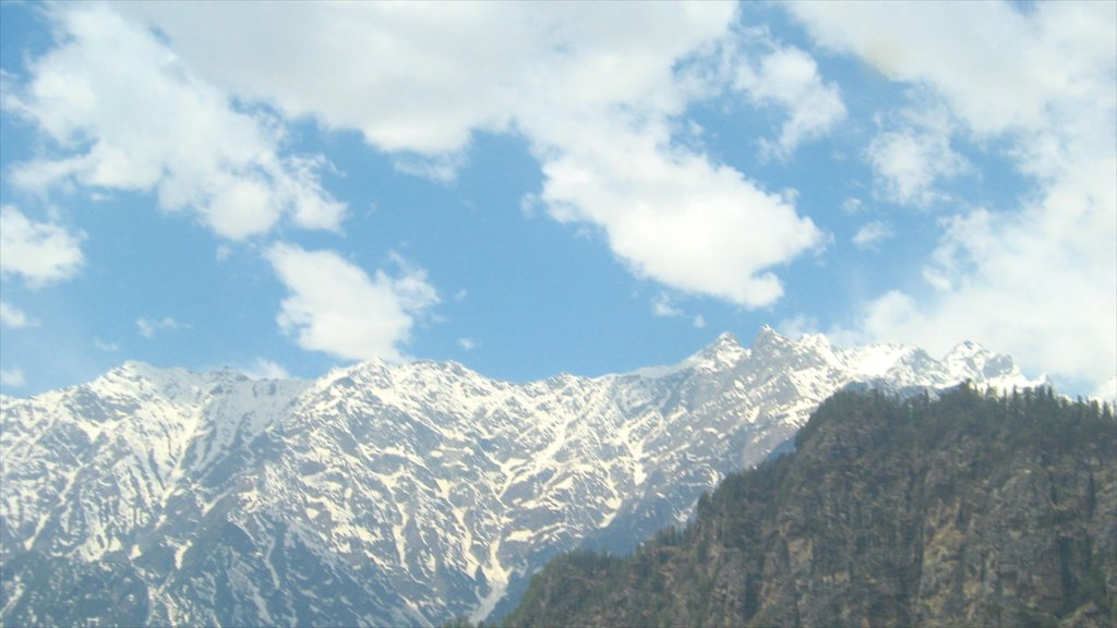 Manali showing snow and mountains
