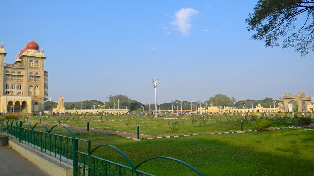Mysore featuring a park