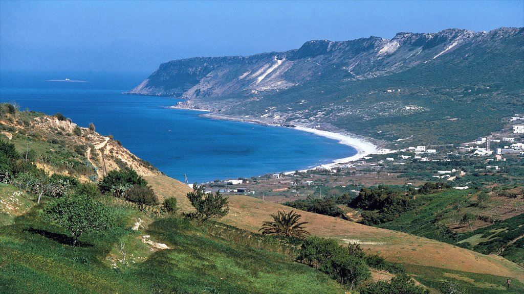 Tunis which includes a coastal town