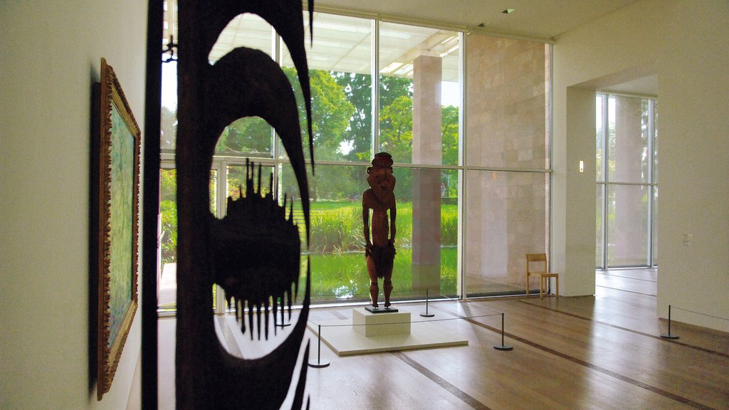 Beyeler Foundation featuring interior views, art and a statue or sculpture