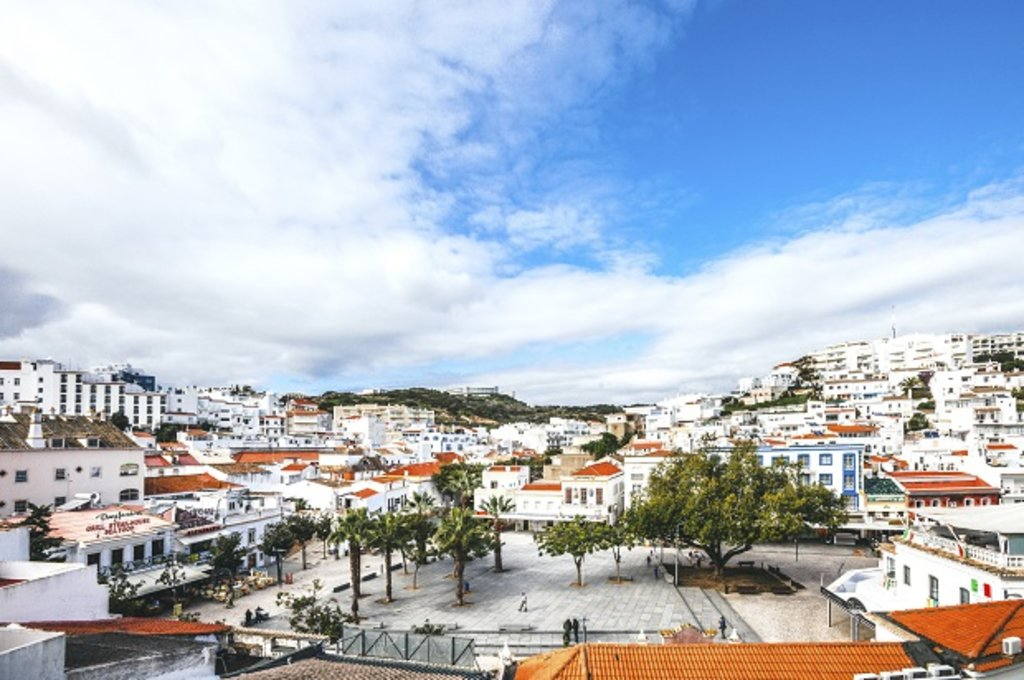 Albufeira skyline, in Portugal