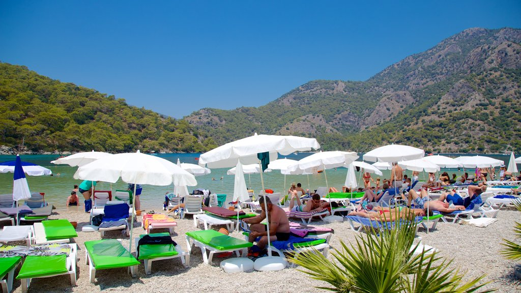 Oludeniz which includes a pebble beach