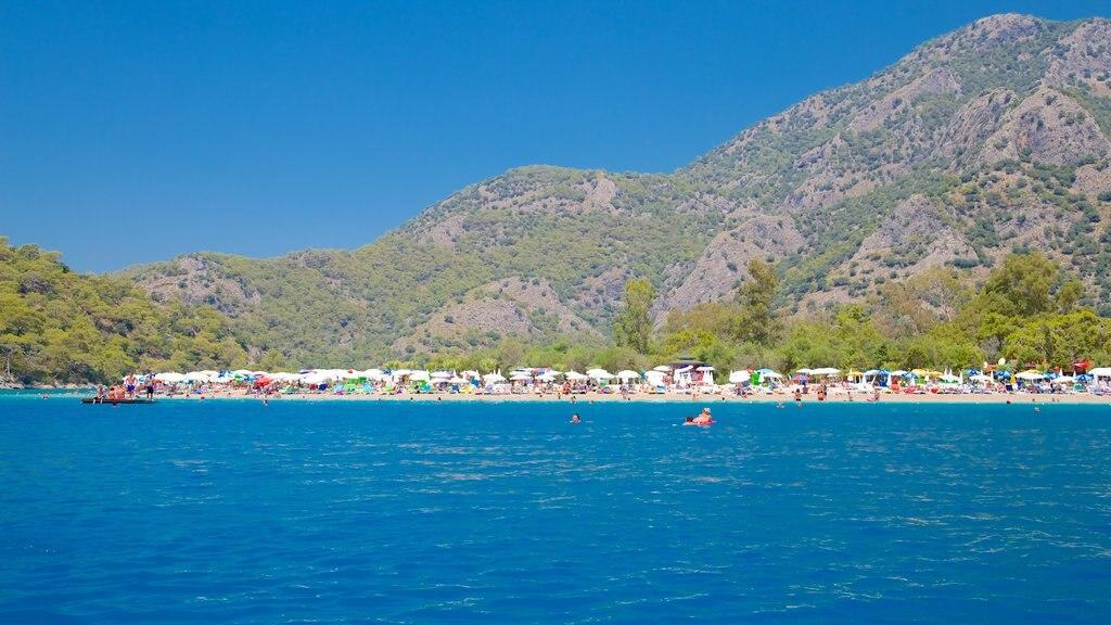 Turkey featuring a sandy beach and general coastal views