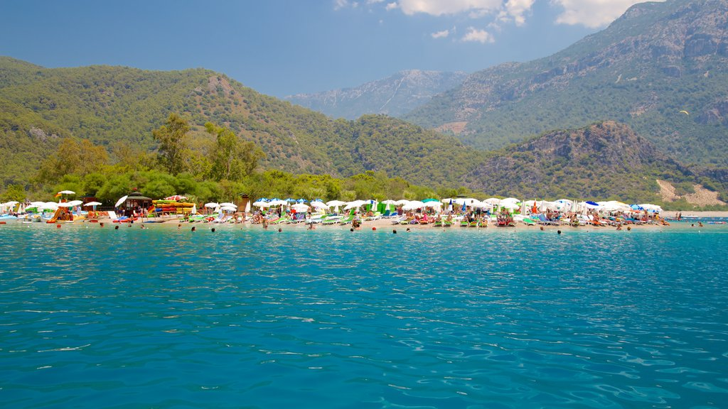Oludeniz showing a beach