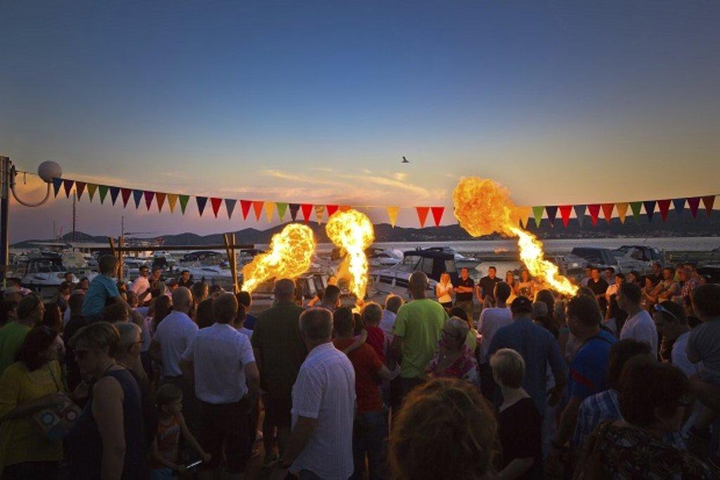 A Croatian festival at night