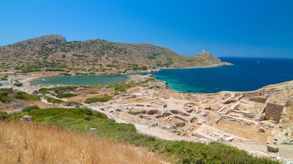 Knidos showing a ruin and general coastal views