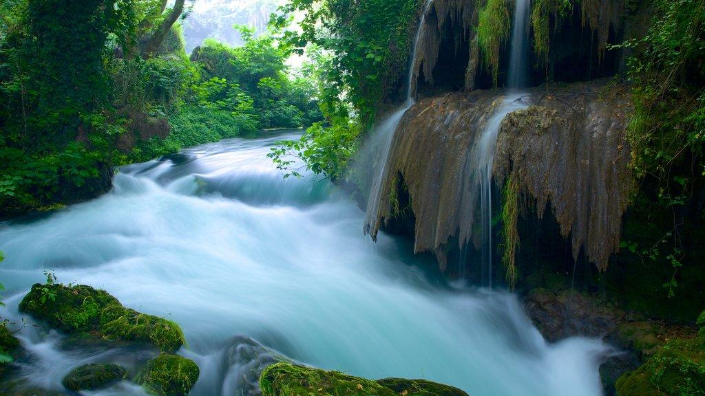 Antalya ofreciendo rápidos, una catarata y vistas de paisajes
