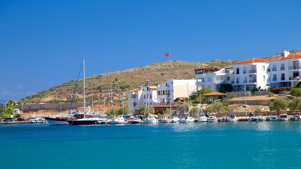 Datca Ferry Port featuring a marina