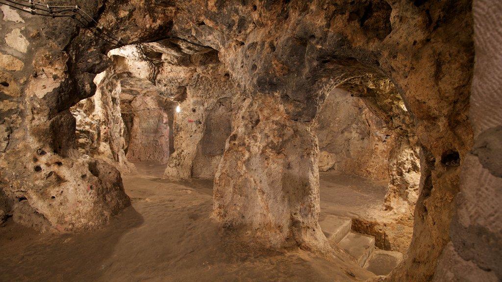 Derinkuyu Underground City which includes caves
