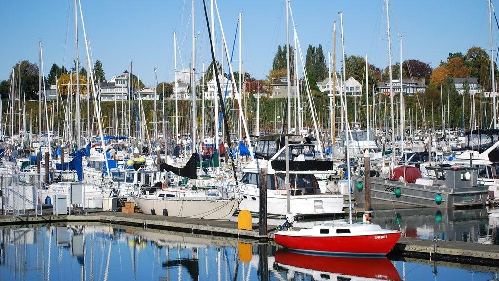 Bellingham showing a marina