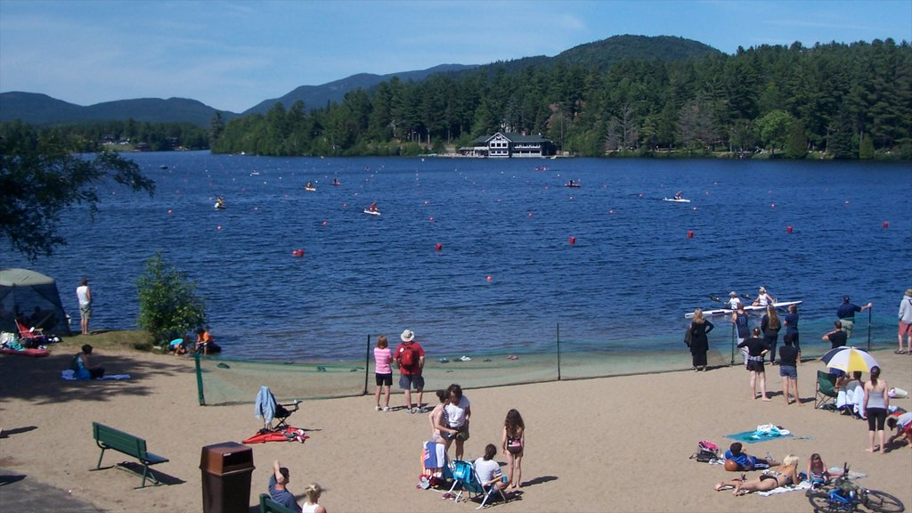 Lake Placid as well as a large group of people