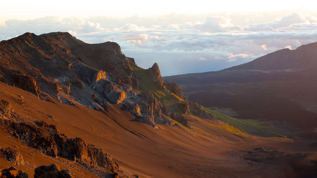 Haleakala Crater which includes mountains